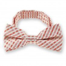 Perfect Pink George Plaid Band Collar Bow Tie
