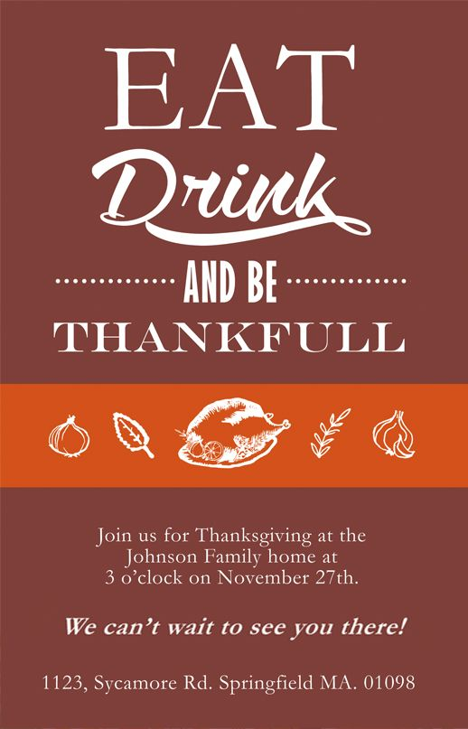 Thanksgiving Cards Invitations Free To Download Thanksgiving - Thanksgiving card template