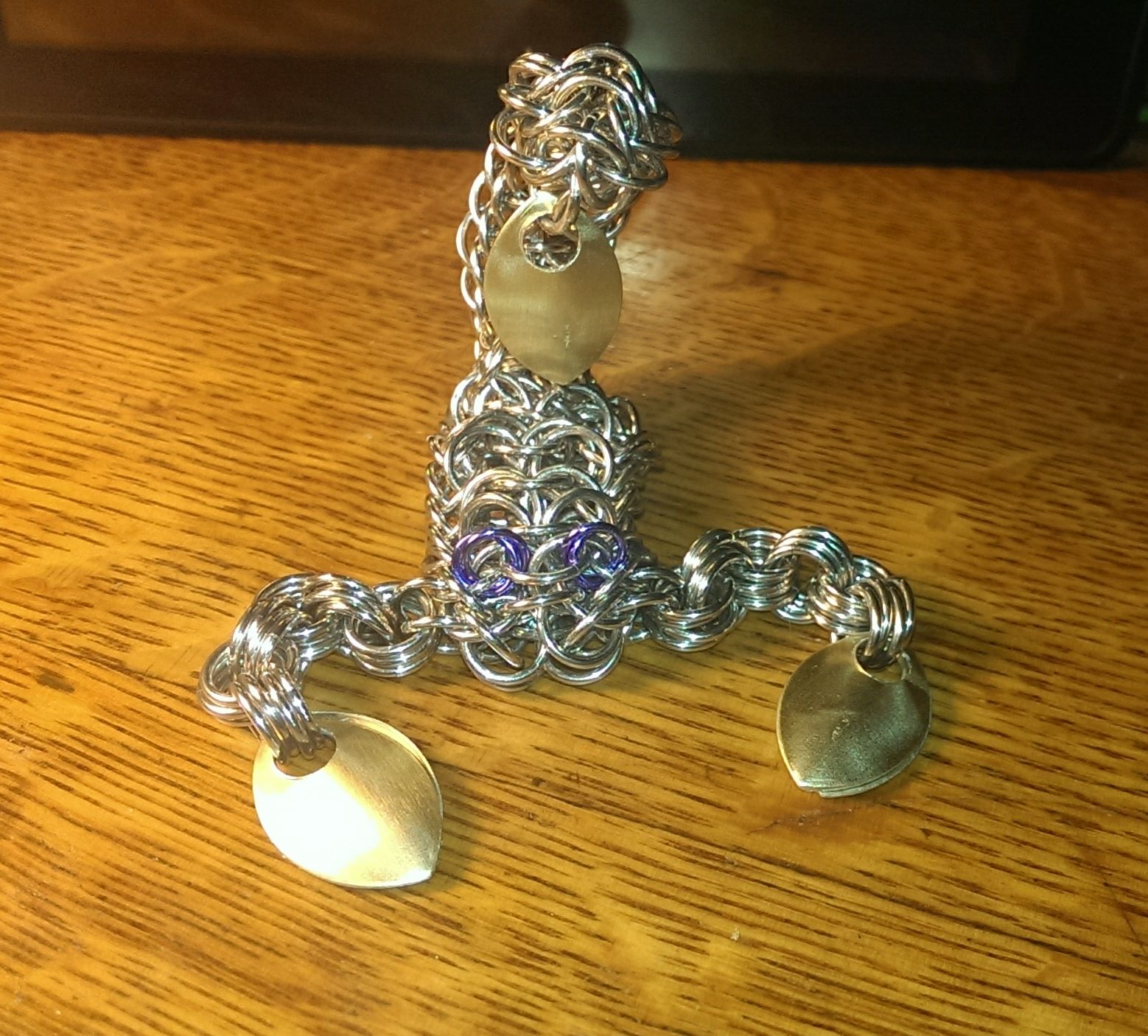 my first chainmail scorpion
