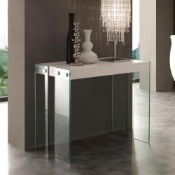 Photo of Consolle allungabile con gambe in vetro temperato dal design moderno Miss Viadurini Collezione living