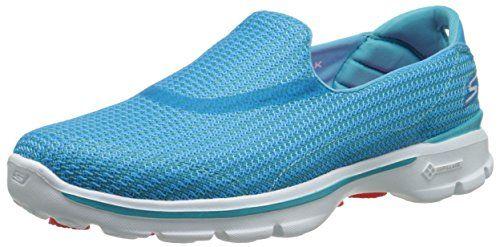 Skechers Go Walk 3, Damen Low-Top Sneaker, Blue (NVW), 36 EU