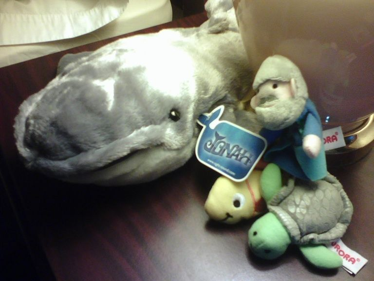 Jonah and the whale hand puppet :d