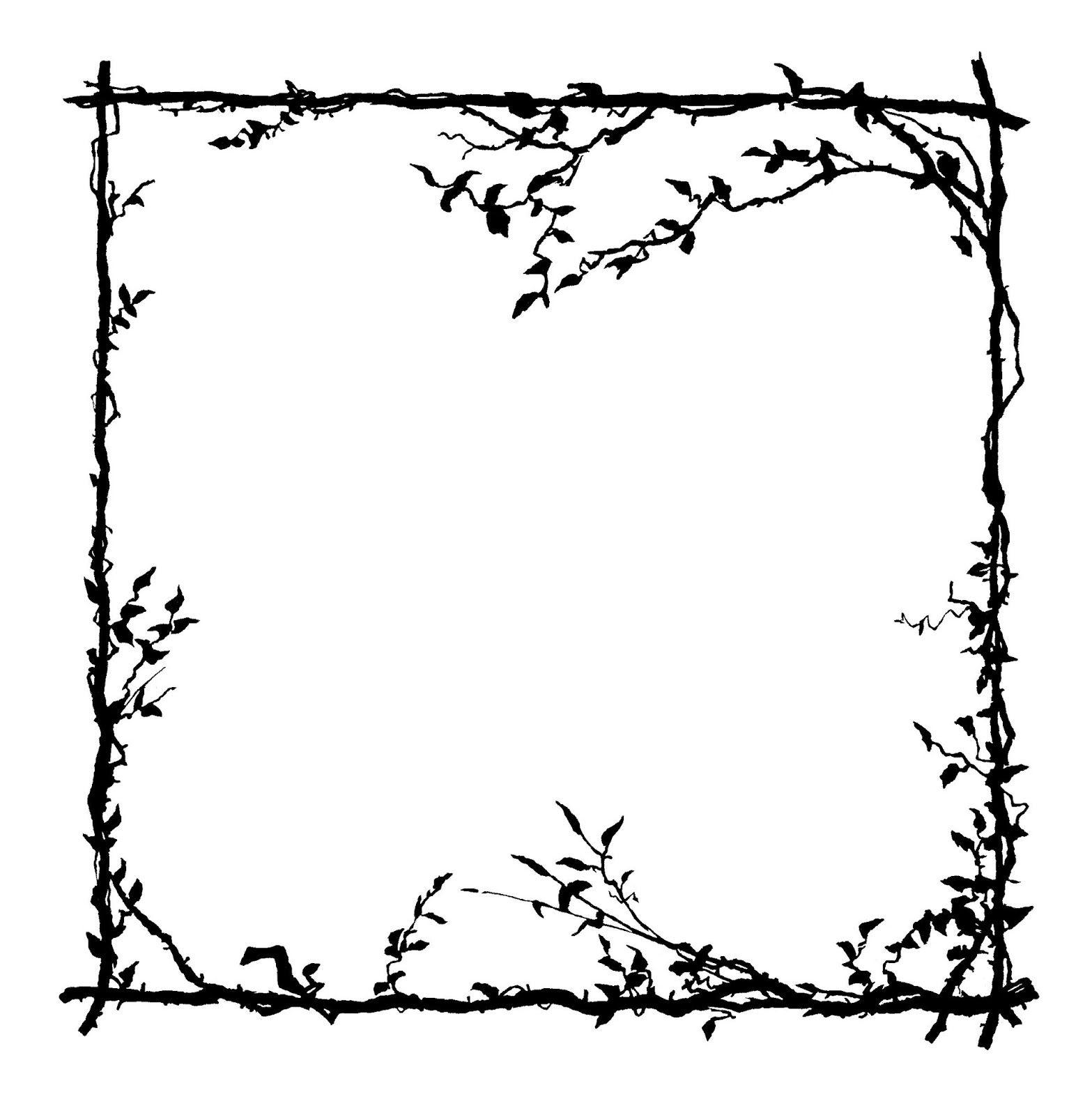 Digital Stamp Design: Free Frame Digital Stamp: Botanical Design ...