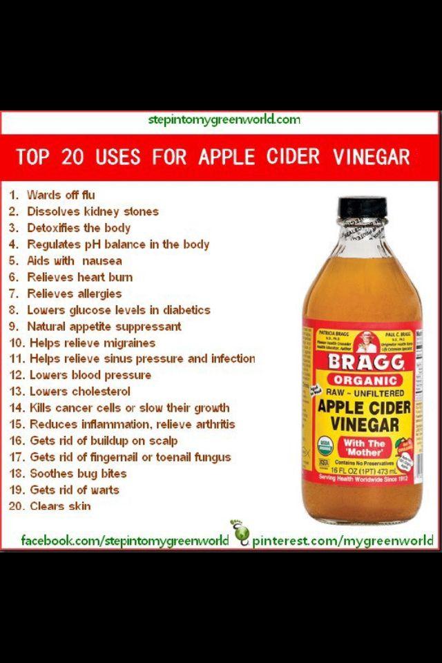 Apple cider vinegar, 1 shot a day keeps the sickness away