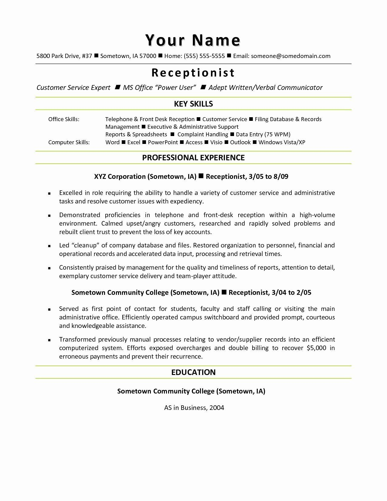 30 Shipping and Receiving Clerk Resume Receptionist