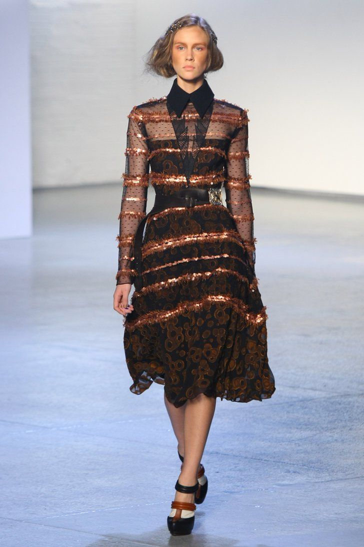 Pin for Later: Rodarte? More Like Radarte When It Comes to the Runway! Fall 2012 For Fall '12, 1940s glam was the inspiration behind the ornate, ladylike dresses.