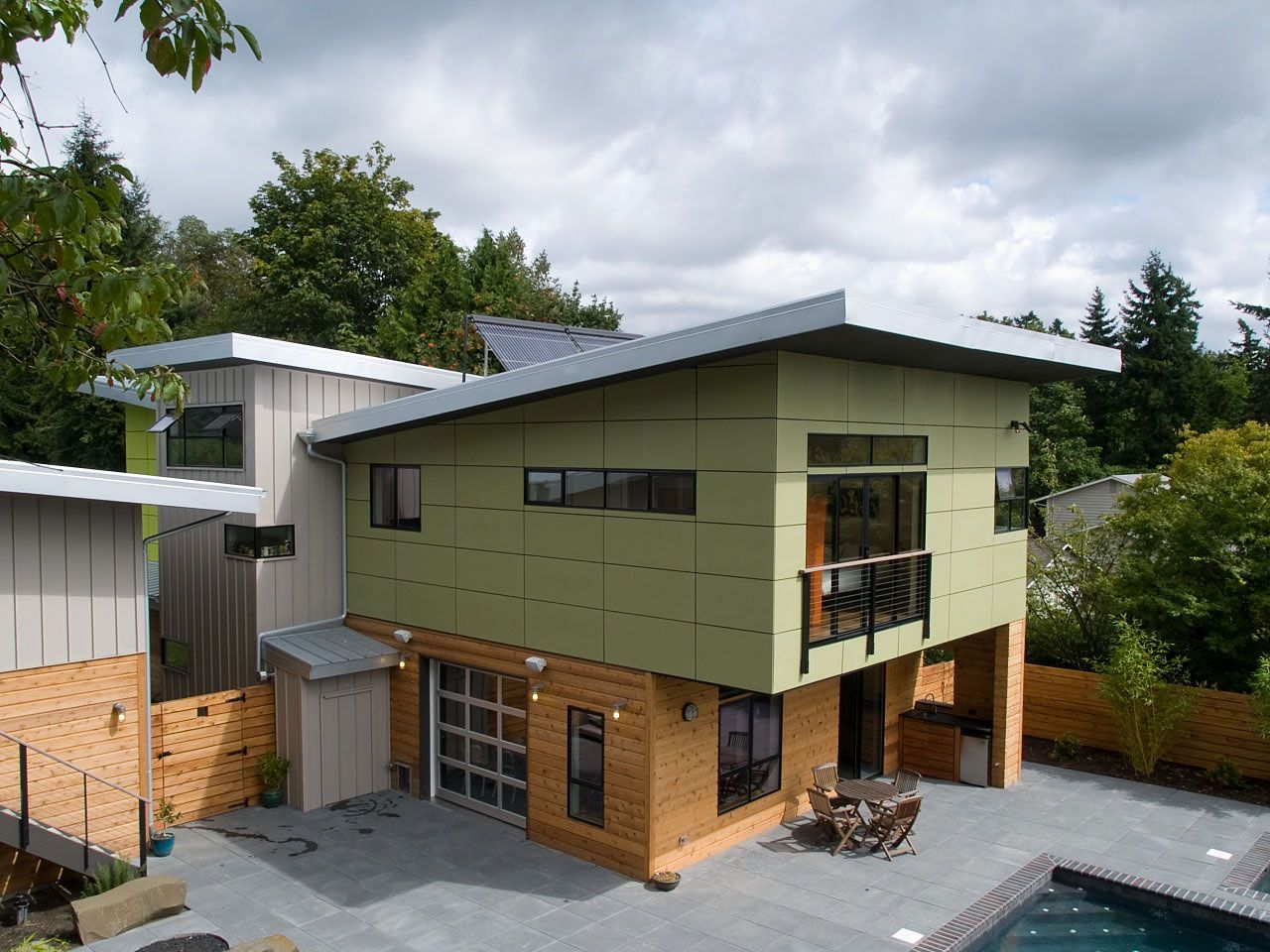Sustainable prefab residence with contemporary interiors by place houses design green architecture interiors photos
