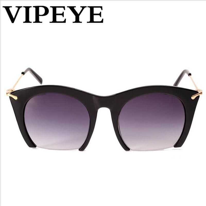 7be6843423 Women s Half Frame Cat s Eye Sunglasses Fashion Resin Lens Square Sunglass  Women Wholesale PC Frame Eyewear