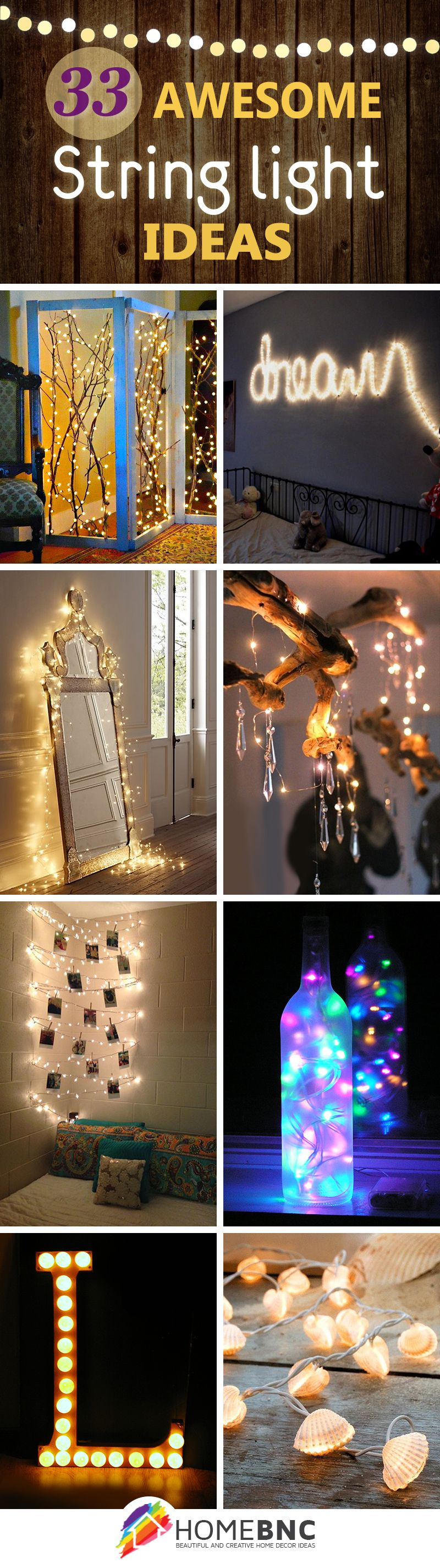 String Lights Decorations 33 Ways to Light