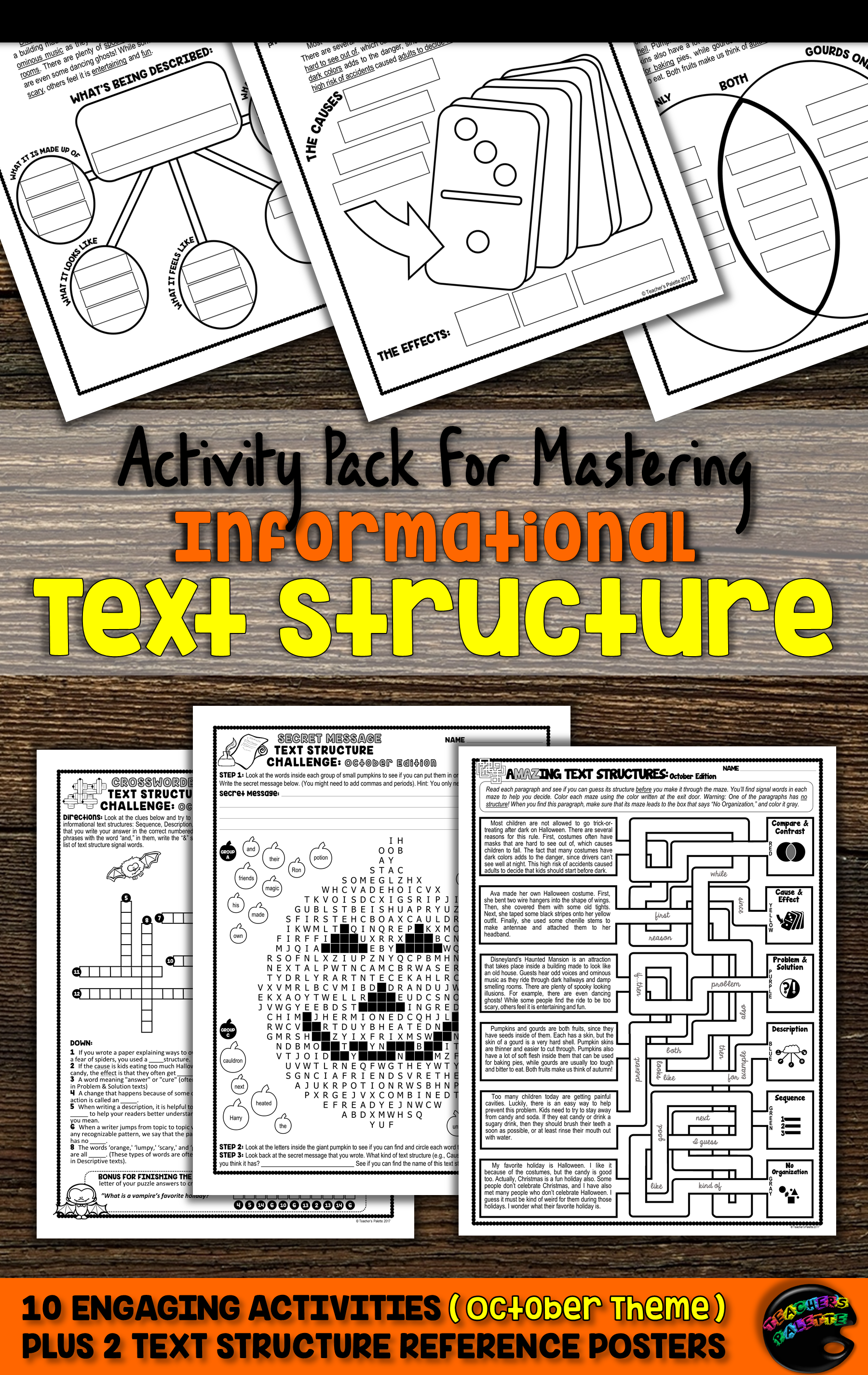 Nformational Text Structure Practice Packet To Help Upper