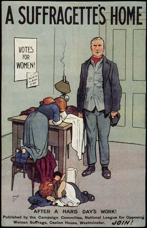 Znalezione obrazy dla zapytania cartoon by John Hassall c.1910 anti suffrage