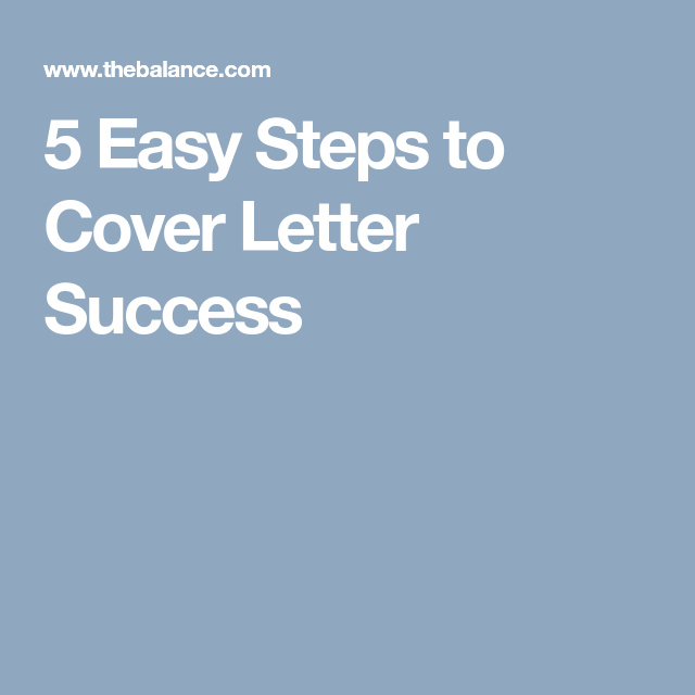 Write A Great Cover Letter In  Easy Steps  Cover Letters And Letters