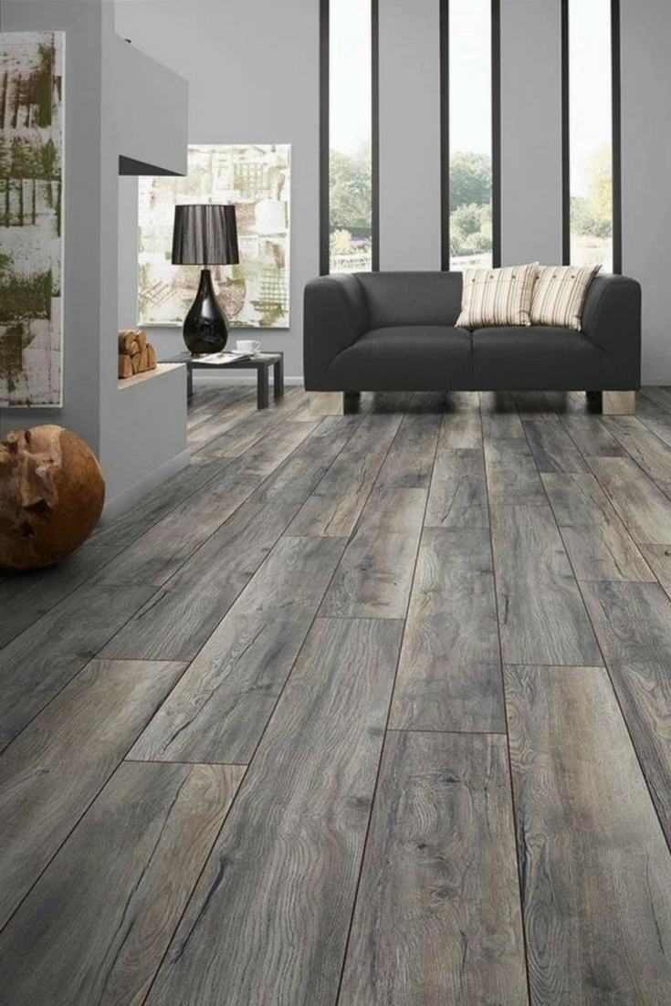Laminate Flooring Is A Low Maintenance Type Of Floor That Can Mimic Hardwood Very Well It Is Also Easy To Insta House Flooring Grey Laminate Flooring Flooring #types #of #flooring #for #living #room