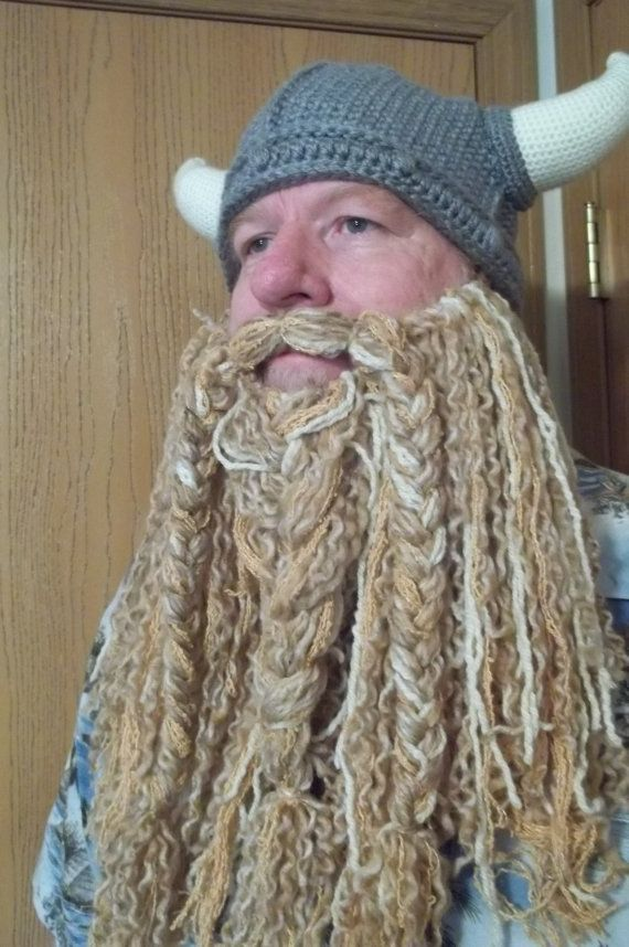 5868c7cbdec Curly Crocheted Full length Beard and Mustache. I want to make a beard like  this.   a red one too.