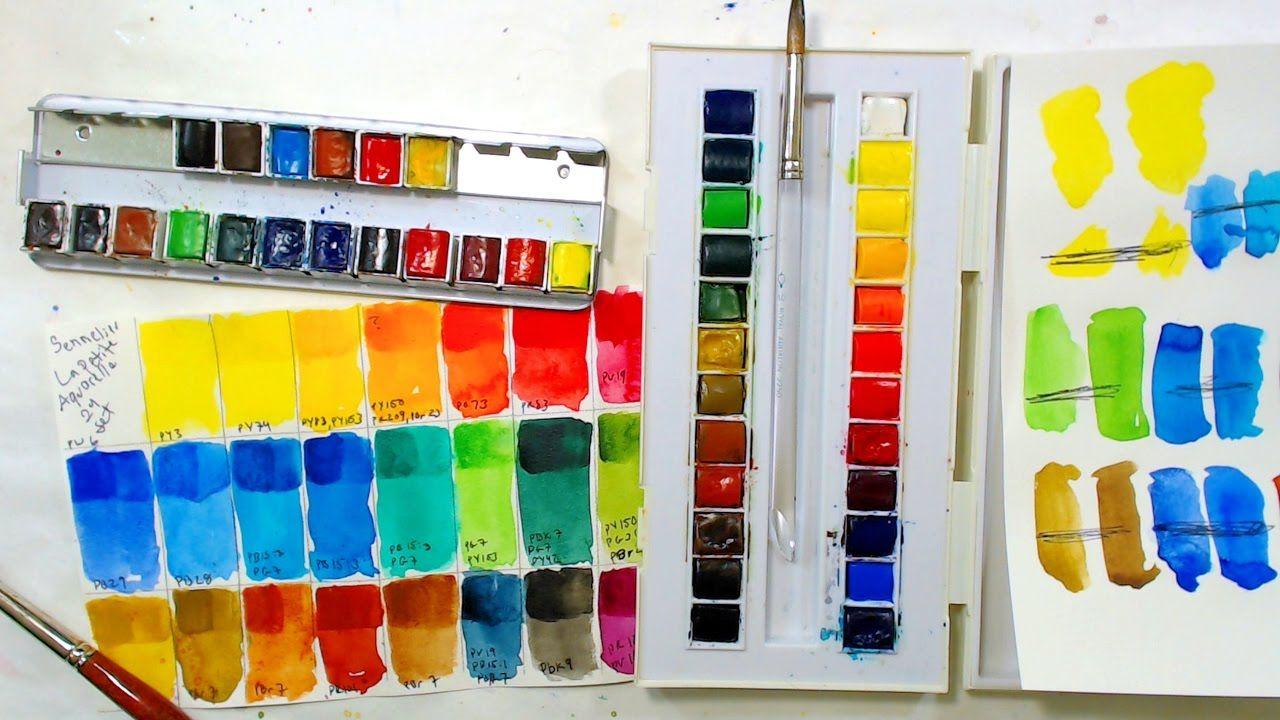 Playing With New Paint Sennelier La Petite Aquarelle 24 Set I Am