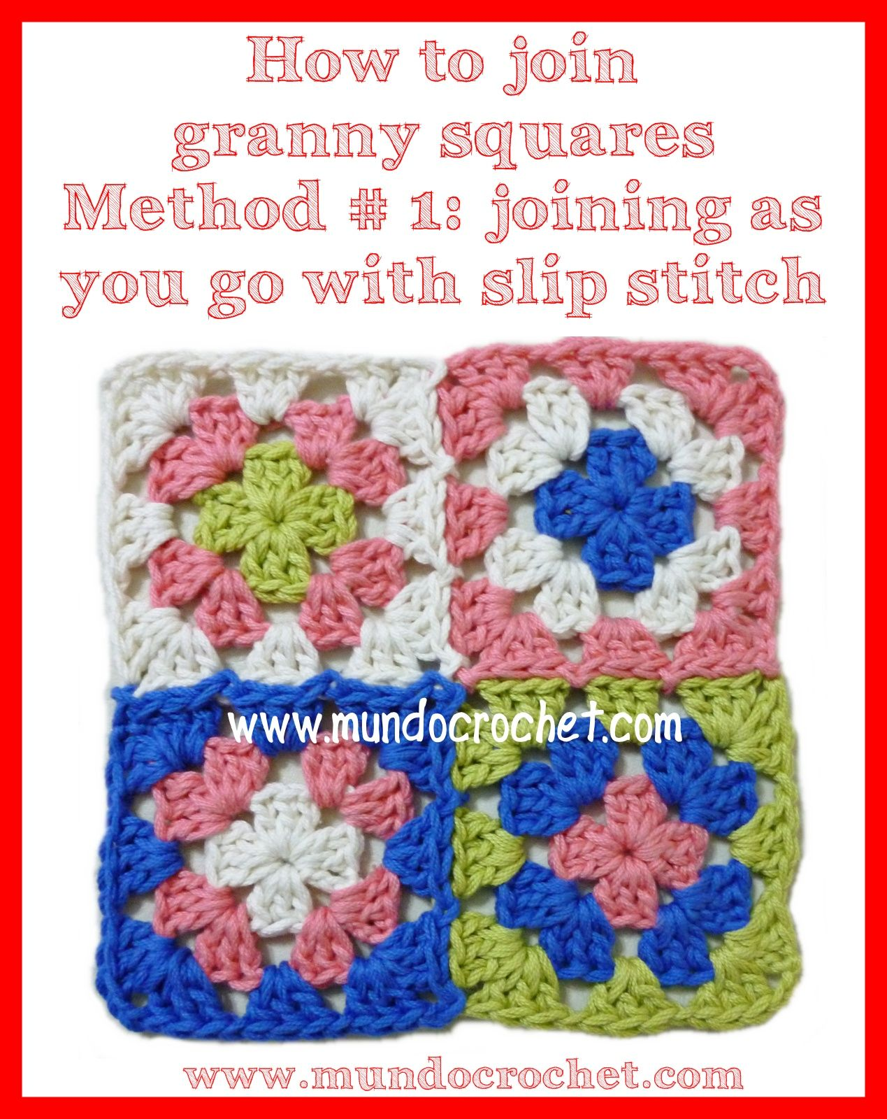 diagram for granny square crochet stitch msd wiring mundo how to join squares method 1