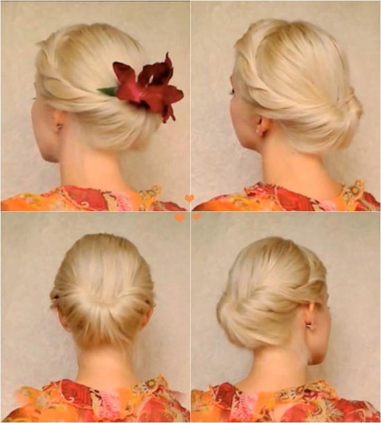 Wonderful DIY Elegant Updo For Medium Long Hair (With