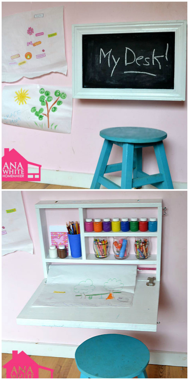 flip down wall art desk art desk