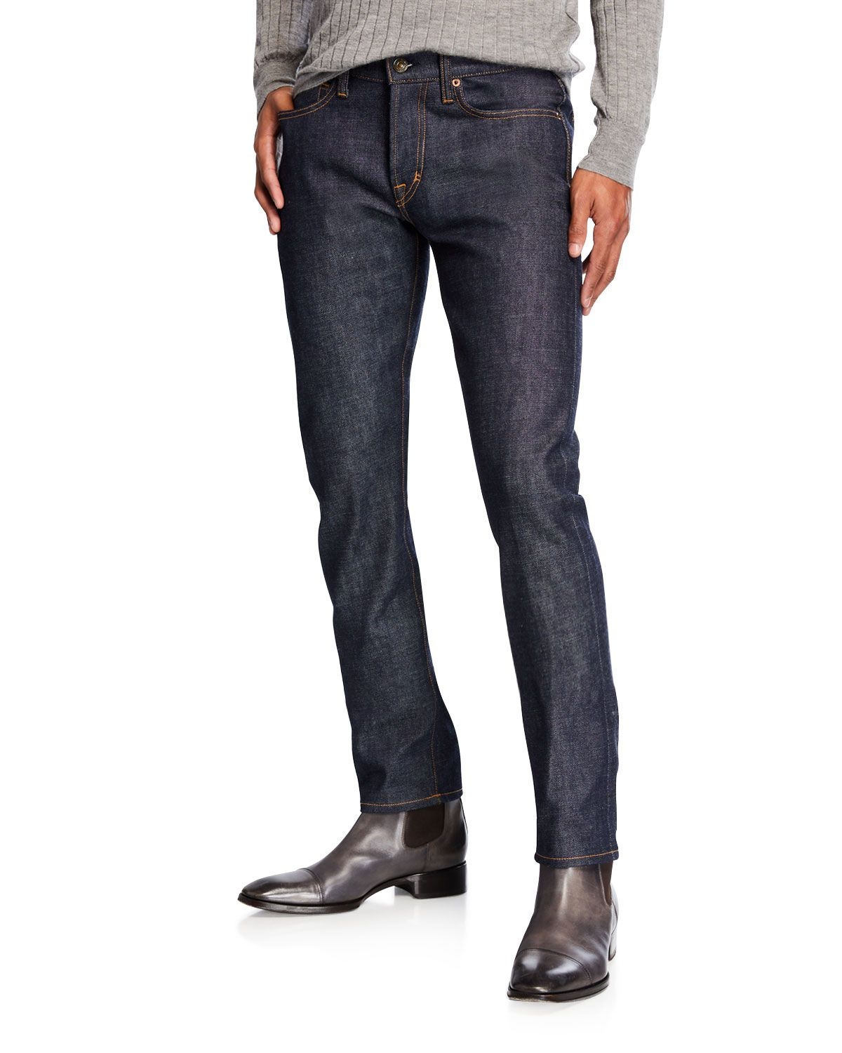 e6a29111992f17 TOM FORD MEN'S SLIM-FIT BUTTON-FLY JEANS. #tomford #cloth   men ...
