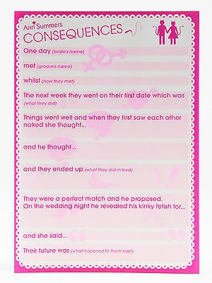 Ann Summers Hen Consequences Funny Night Party Novelty Gift New
