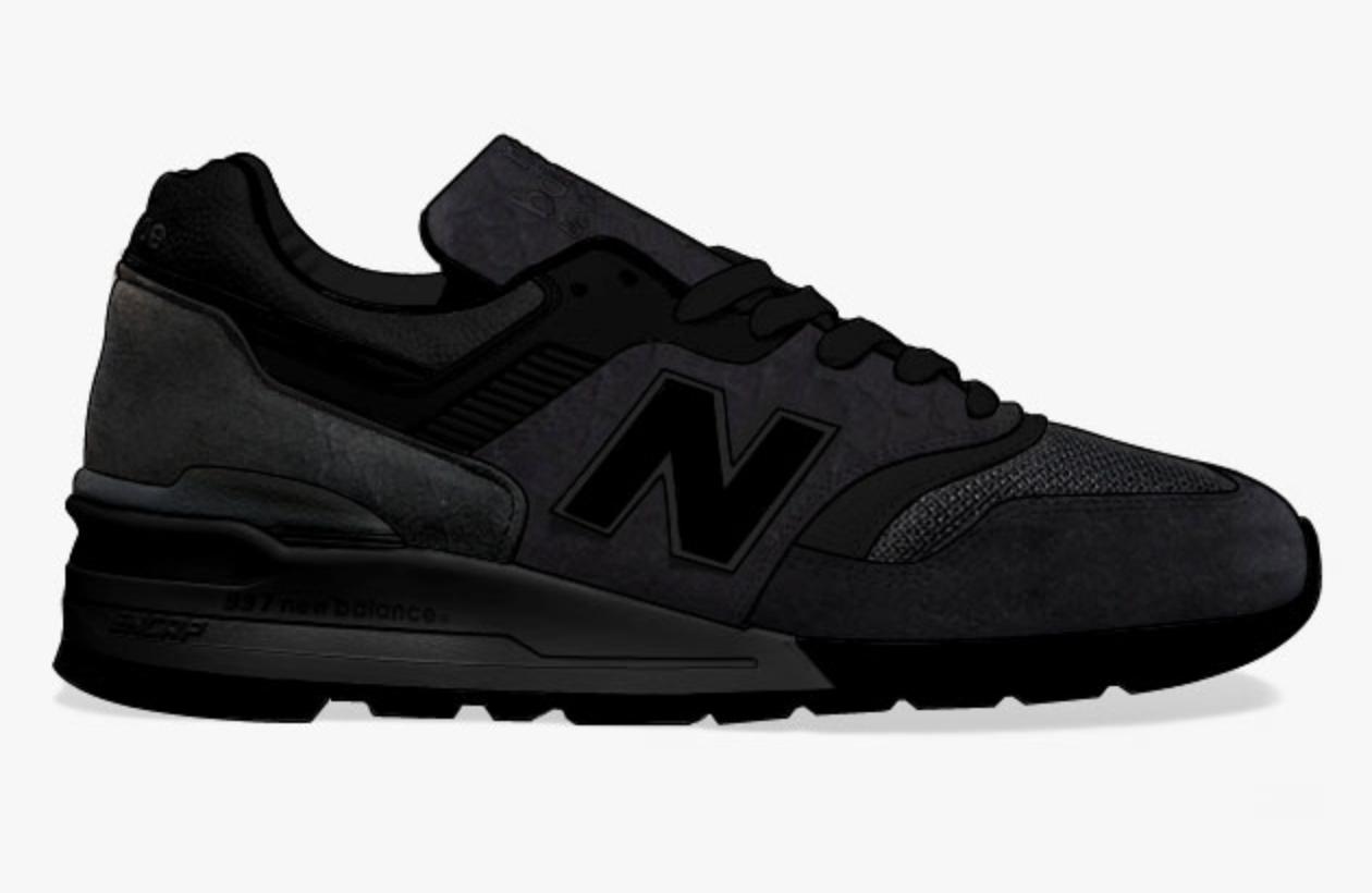 New Balance 997 total black 014'   New