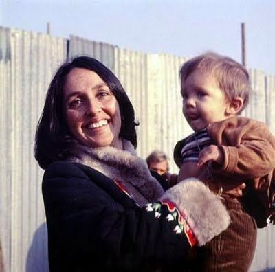 Joan And Son Gabriel Harris Joan Baez Joan Music Photo