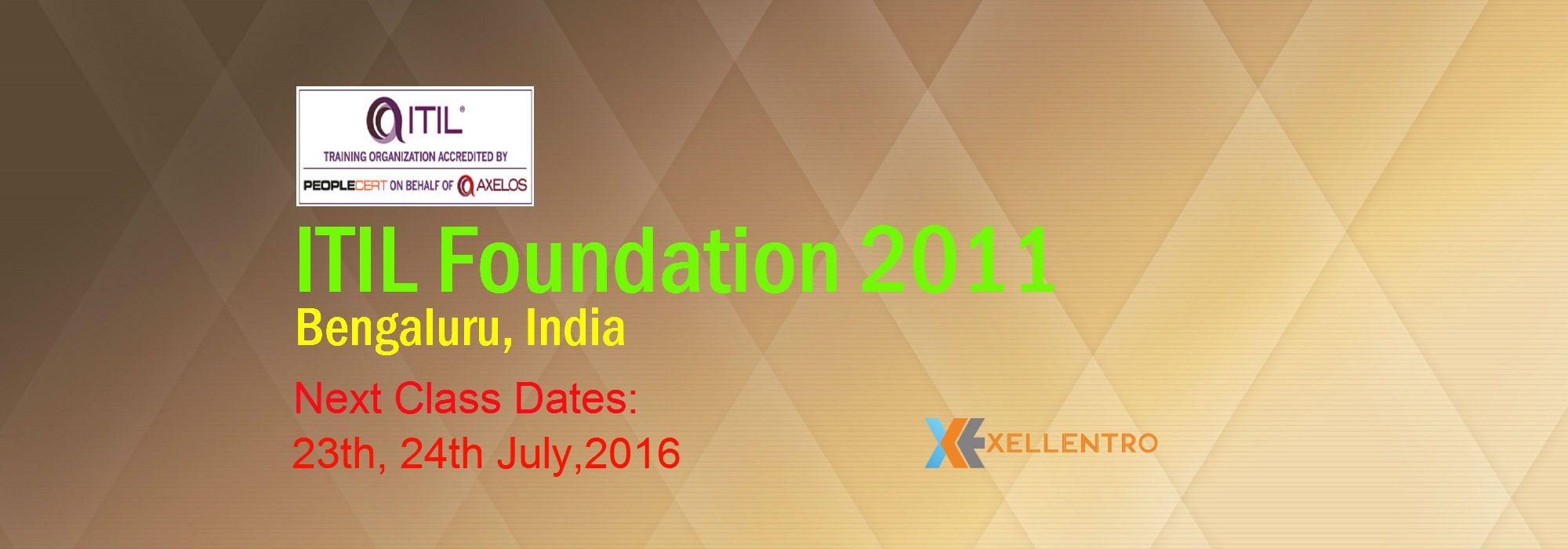Itil Foundation 2011 Bangalore India Itil Foundation Certification