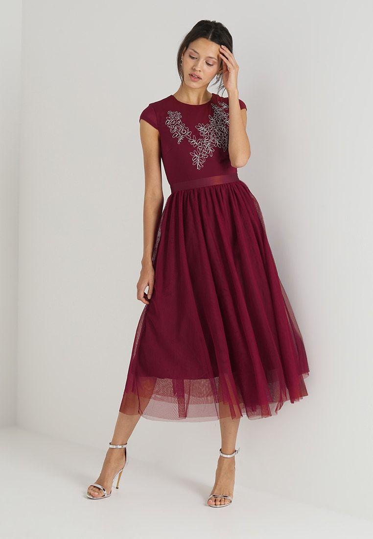 Mint Berry Ballkjole Cabernet Zalando No Berry Dress Fashion Guest Outfit [ jpg ]