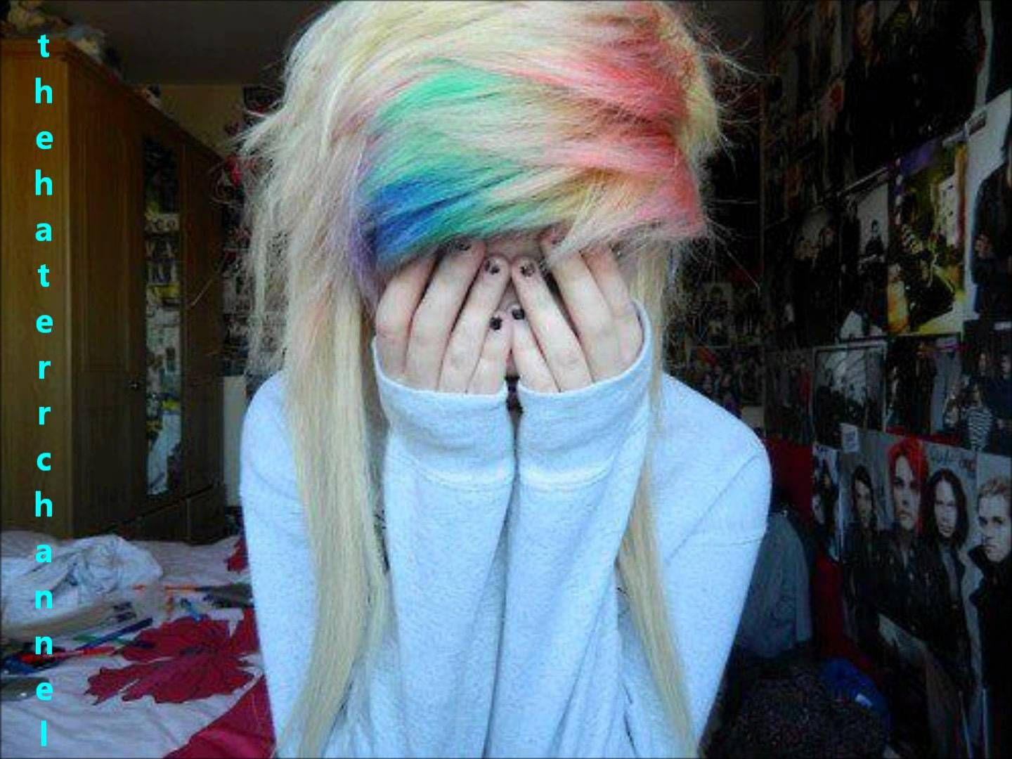 Scene Hair Ideas for girls (11)  Hair styles, Cute blonde hair