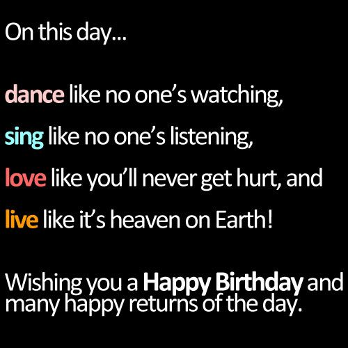 pictures of birthday quotes | Happy Birthday Inspirational ...