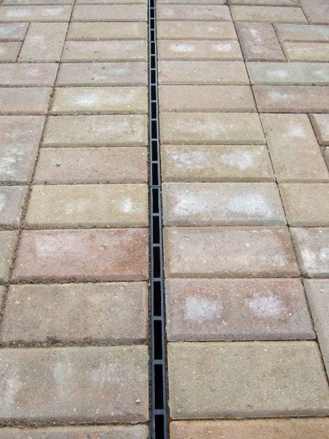 ACO Hexdrain Brickslot Patio Drainage Ideas, Drainage Channel, Block  Paving, Water Management,