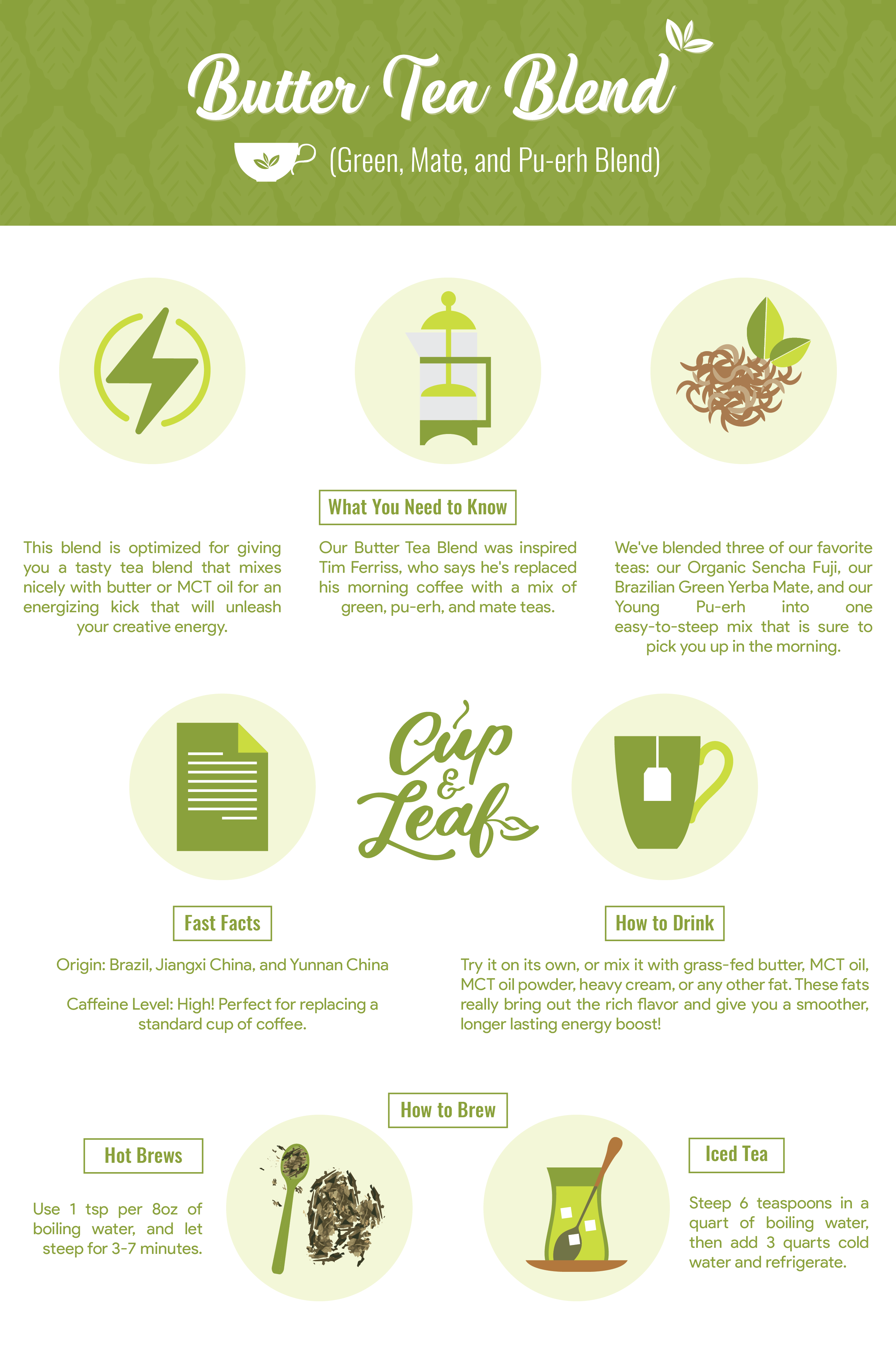 Butter Tea Blend Tea blends, Green tea vs coffee, Tea