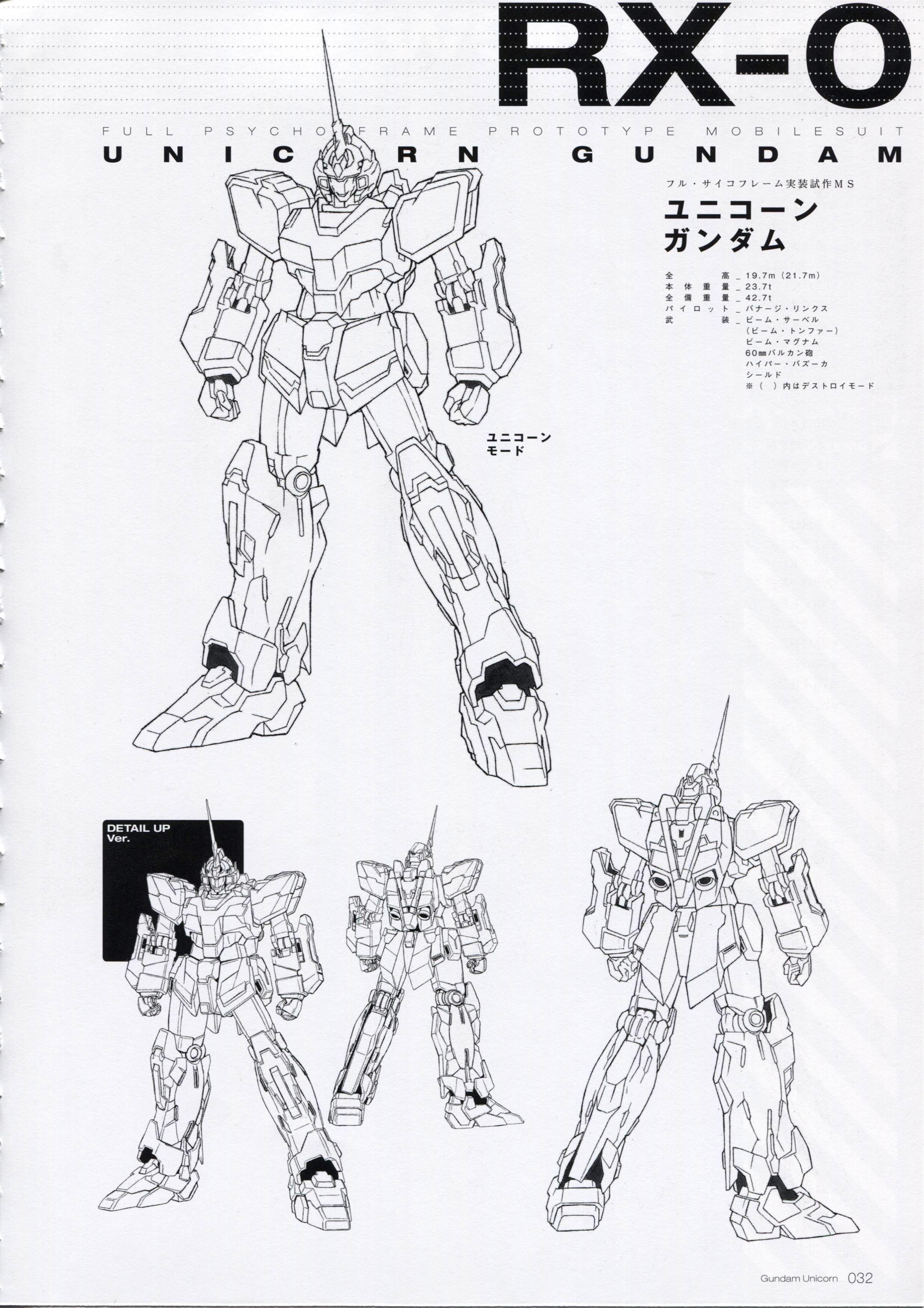Mobile Suit Gundam Unicorn Mechanics World Ep 1 3 Unicorn Gundam Character Design Gundam Art