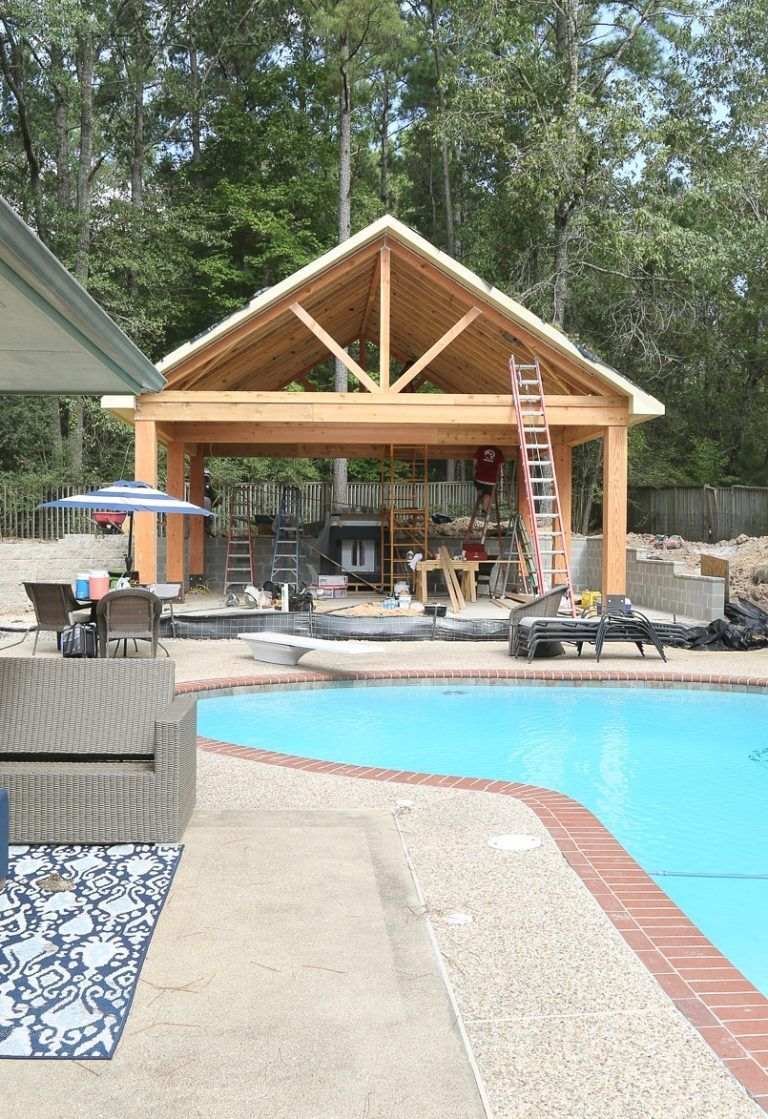 outdoor kitchen and pool house project reveal pool gazebo outdoor kitchen design backyard on outdoor kitchen gazebo ideas id=65808