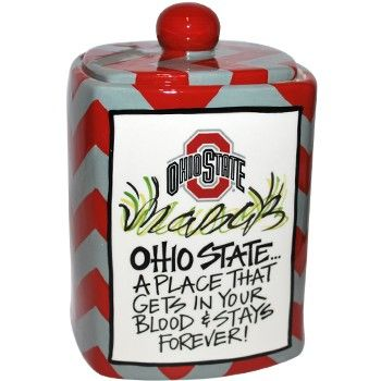 Ohio State Buckeyes Ceramic Cookie Jar - Everything Buckeyes - OSU Fan Shop