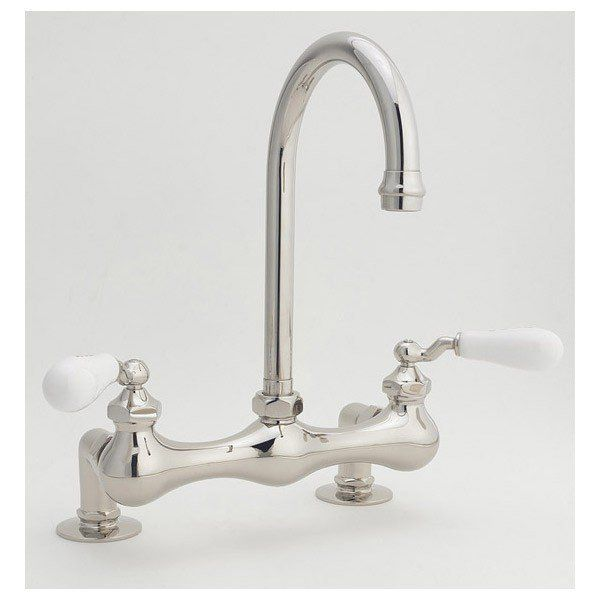 Sunrise Specialty Deck Mounted Bridge Faucet Gooseneck
