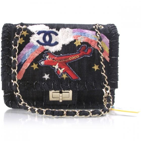 fa7a01bac837 This is the fabulous and authentic CHANEL Denim Embroidered Coco Tote Bag.  This is one of the more inventive of Chanels creations and a must have for  the ...