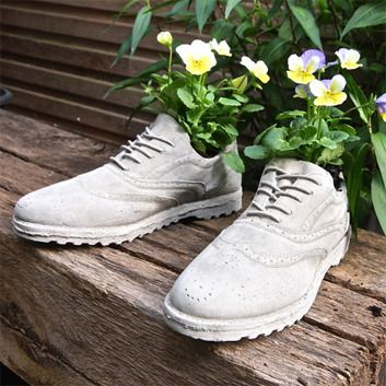 Seletti Zestaw 2 Donic Chaussures Concrete Planters Brogues Brogue Shoes