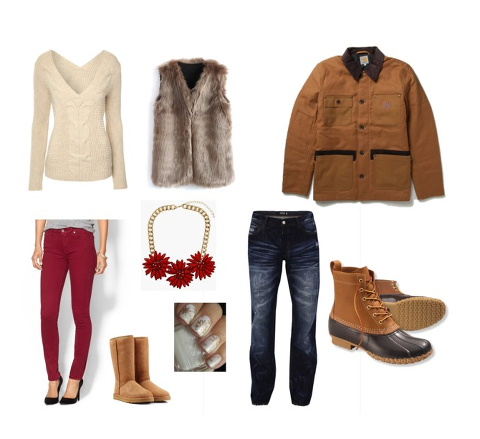 what to wear for outdoor winter engagement pictures