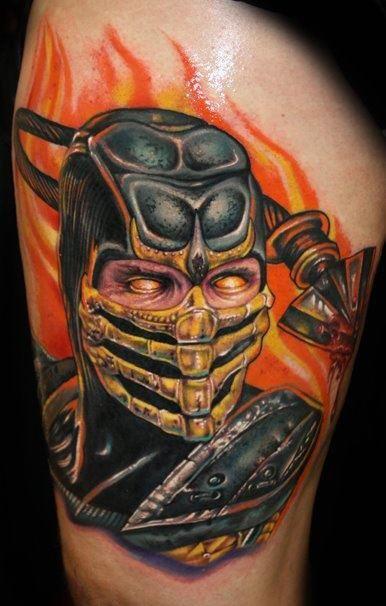 Mortal Kombat Scorpion Tattoo Tattoos Badass Tattoos Gamer Tattoos