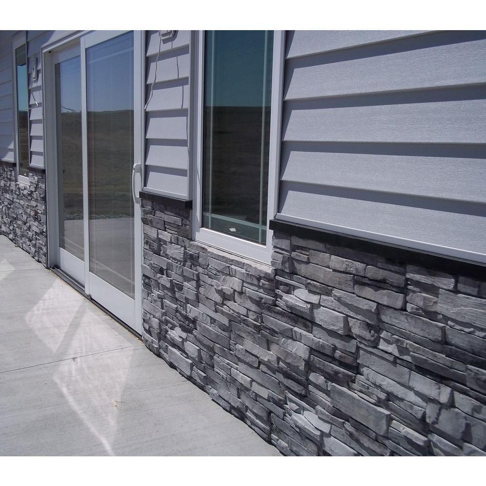 Adorn 23 5 In X 6 In Colorado Gray Stone Veneer Siding Flats
