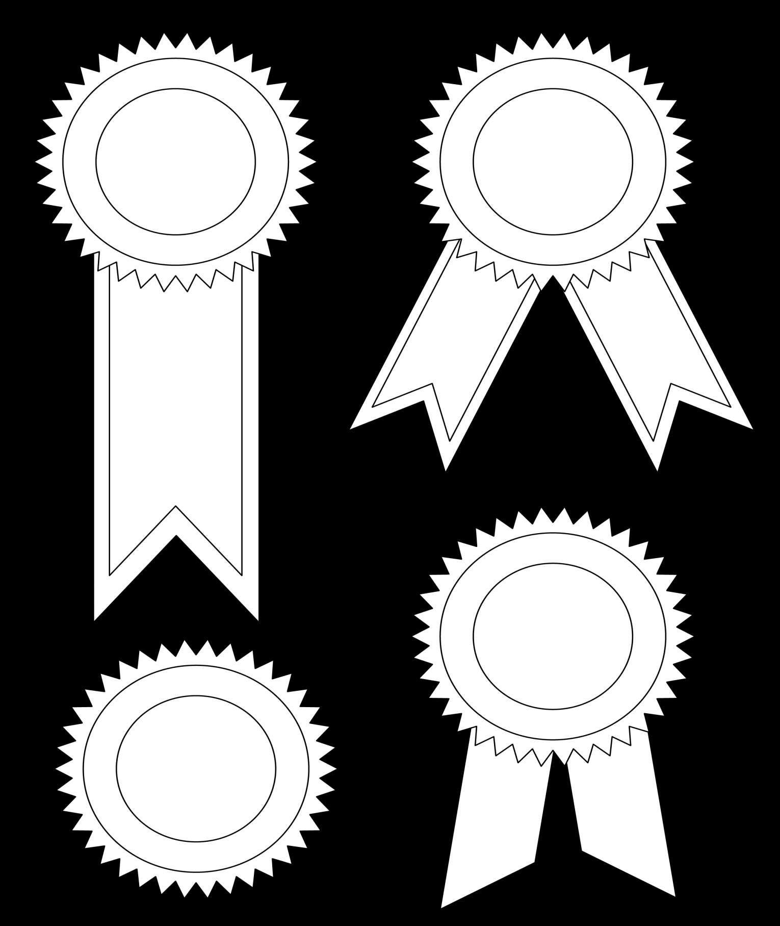 Template Award Ribbon Template Prize Template Award Ribbons Award Ribbon Quilting Crafts