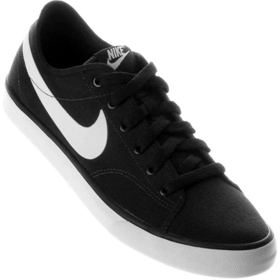 34d9be3b73142 Tênis Nike Primo Court Canvas Casual Feminino Preto   Branco