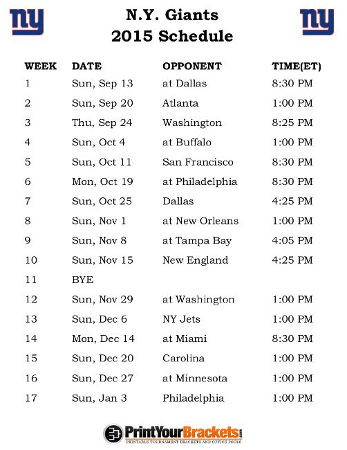 picture relating to Ny Giants Printable Schedule referred to as Printable N.Y. Giants Soccer Agenda Sports activities Giants