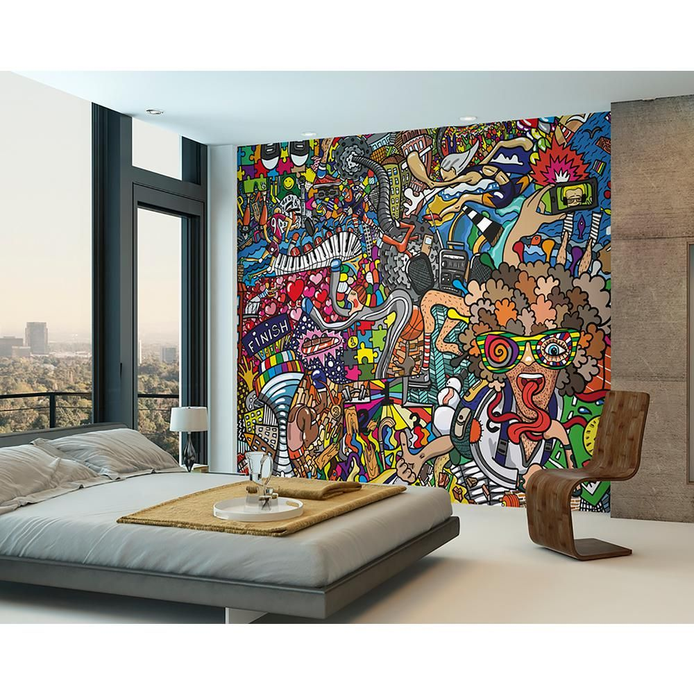 Déco Murale Diy Ohpopsi Sports Illustrations Wall Mural