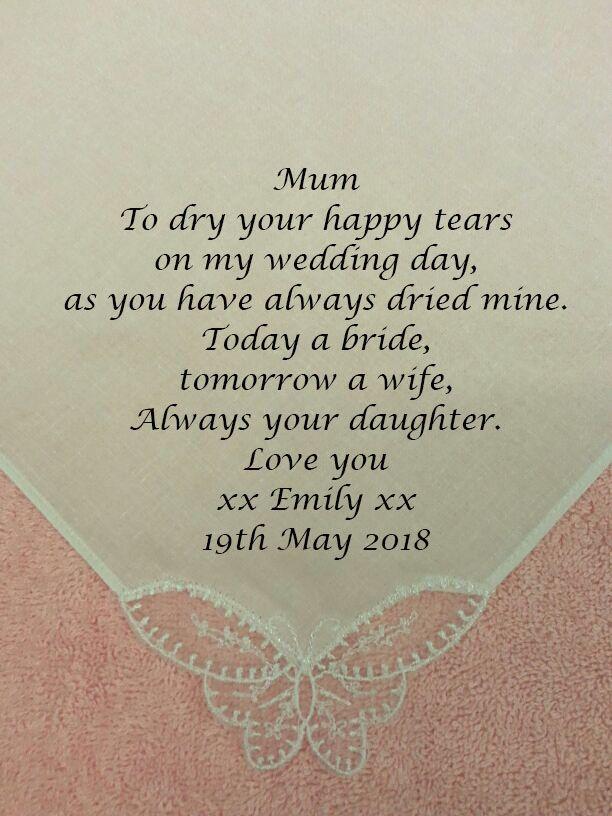 Facebook Mother Of The Bride Personalised Handkerchief Hankies Www Cottononcardz