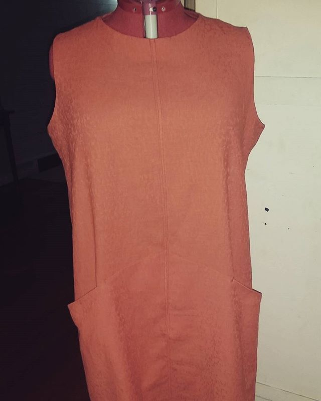 Finally bought a plus sized mannequin .. love it... also love the @grainlinestudio #farrowdress this is my 6th one... so easy to wear... and already plans for another one #memade #memadewardrobe #lovesewing #loveorange #plussizesewingfarrowdress,loveorange,lovesewing,memadewardrobe,memade,plussizesewingkarynogden