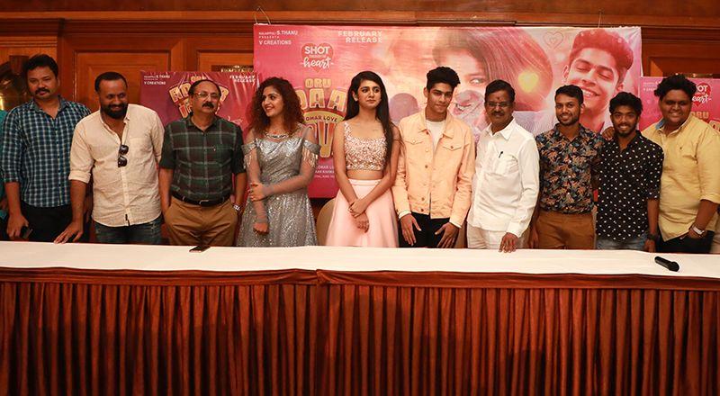 Actress Priya Prakash Varrier at Oru Adaar Love Movie Press Meet