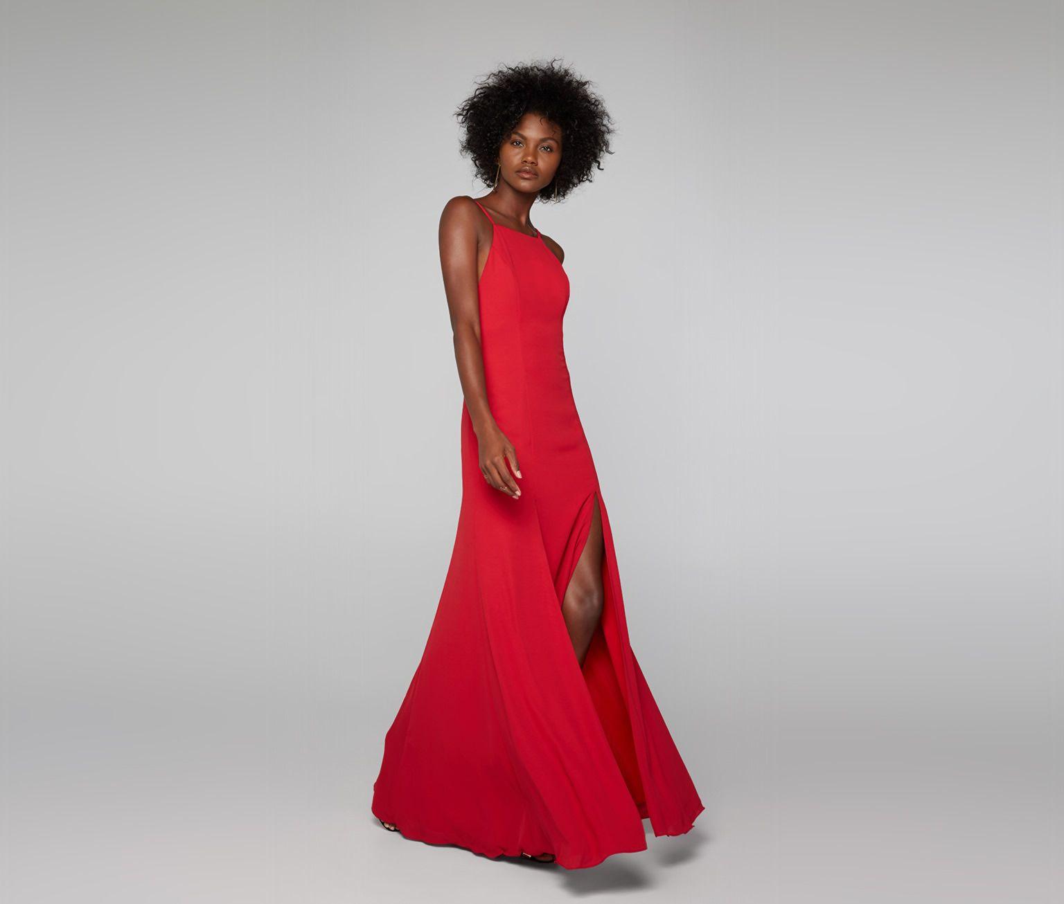 Red Leo Dress | Fame & Partners USA | prom | Pinterest