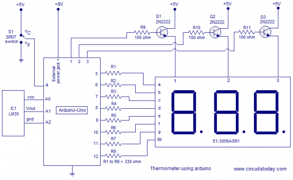 Digital thermometer using arduino | Arduino | Pinterest | Digital ...